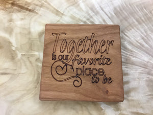 Set of Solid Wood Coasters