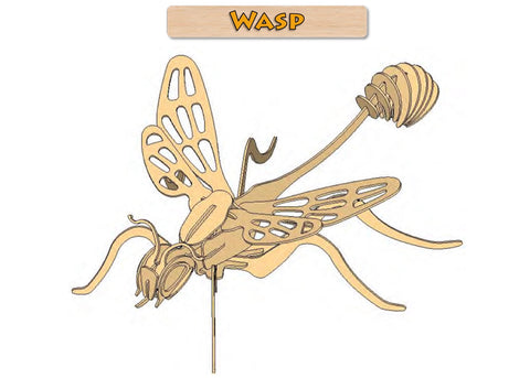 3D Puzzle- Insect Collection: Wasp