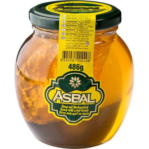 Asbal Petekli Bal 486 Gr