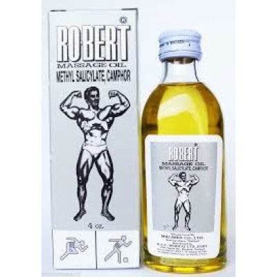 Robert Massage Oil Liniment - Methyl Salicylate Camphor 4oz