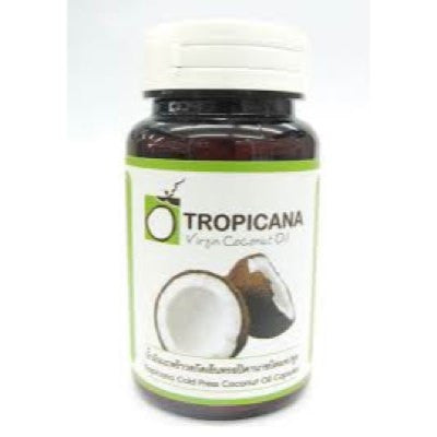 Tropicana 100% Organic Extra Virgin Coconut Oil Capsules (Pack of 3)