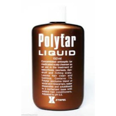 Polytar Liquid Shampoo for Psoriasis - Dandruff - Itchy Scalp 150ml