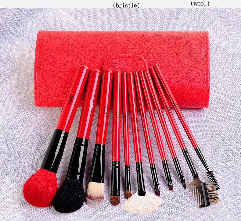 MSQ 11pcs Makeup Brushes Sets With Bag Various Colours