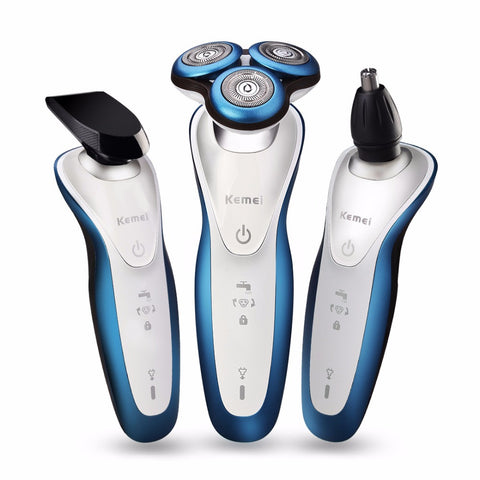 Kemei KM-7000 Washable Rechargeable Shaver 3D