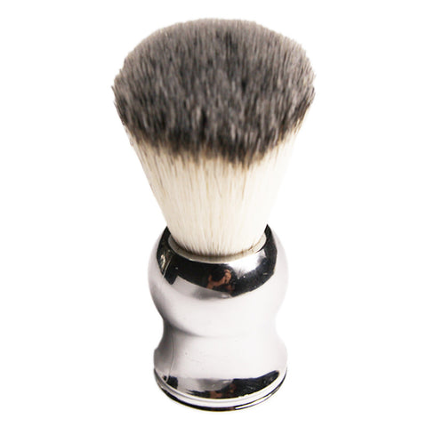 Mens Silver Handle Badger Hair Shaving Brush