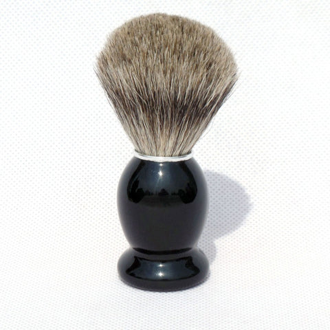 Pure Badger Hair Shaving Brush With Black Wooden Handle