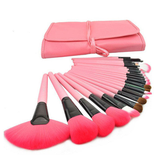 Face Care Professional 24 Pcs Makeup Brush Set With Bag