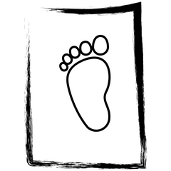 Small carbon footprint icon