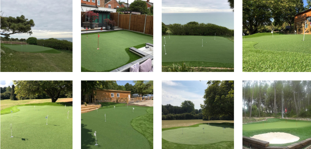 Golf course and garden putting green