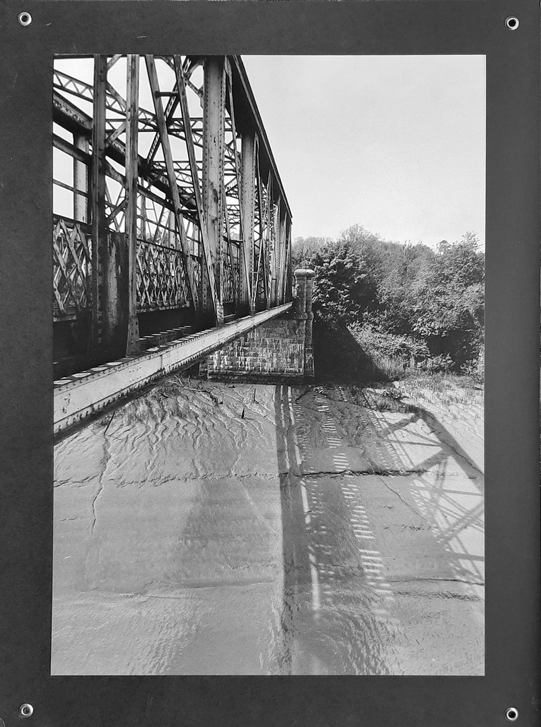 Red Iron Bridge no 14 ~ limited edition mounted b&w prints