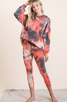 Hooded Tie Dye Yoga Set