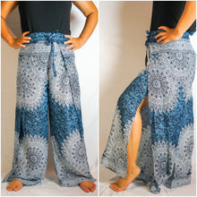 Blue Boho Wrap Pants