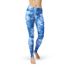 Aqua Batik Leggings