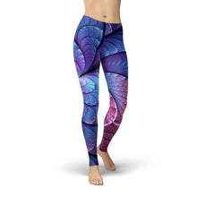 Jean Purple and Blue Scales Leggings