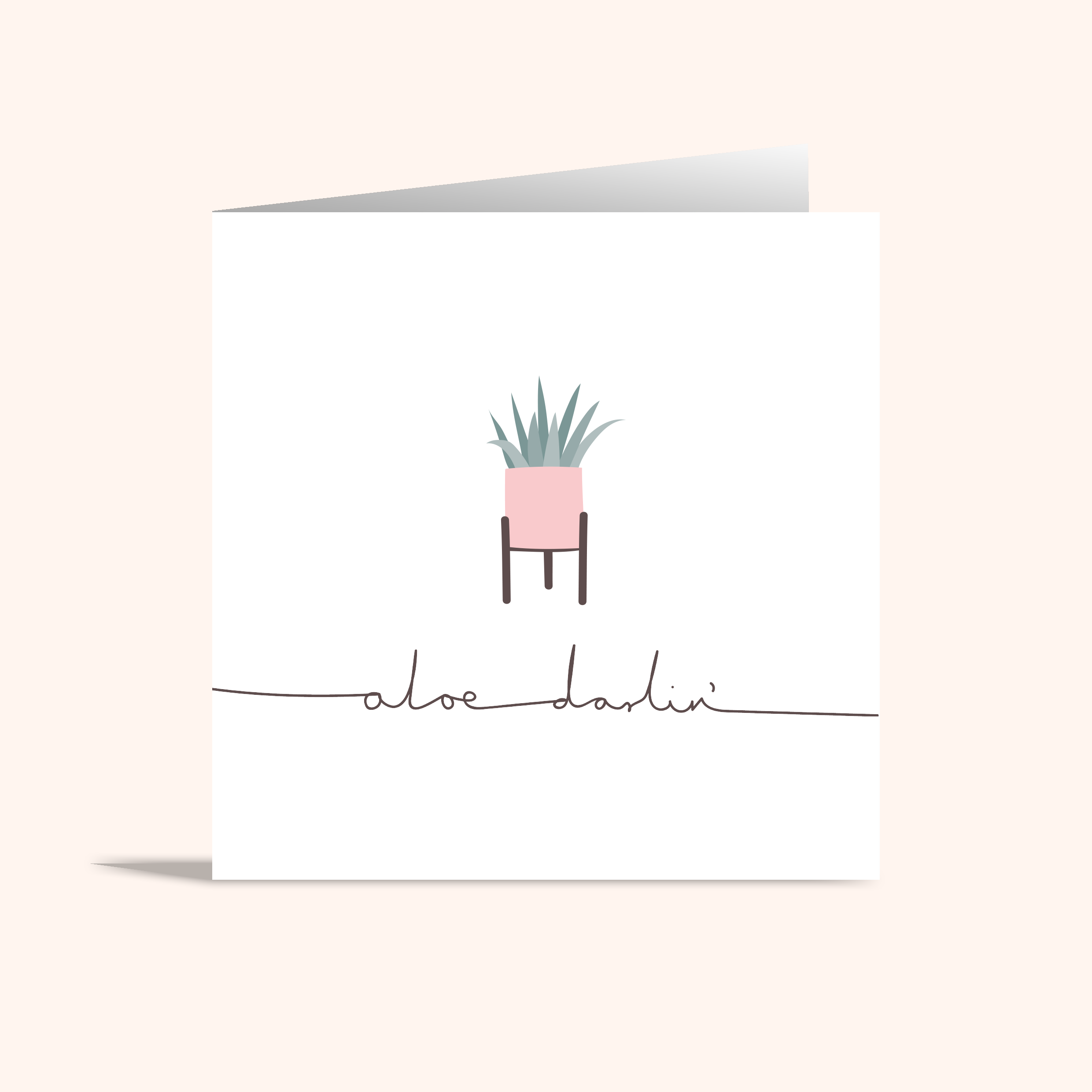 Aloe Darlin' Card