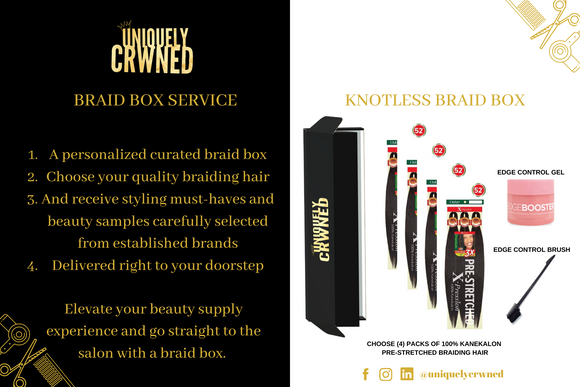 Knotless Braids Box (One-time)