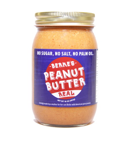 Real, natural, Organic peanut butters with no sugar, no salt.