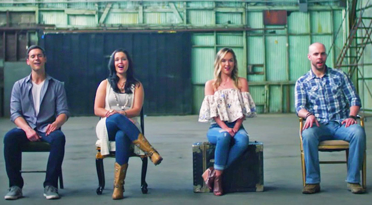 Home free Songs   Founding Member Of Home Free Joins Sister & Friends For A Capella Cover Of 'Can't Help Falling In Love'   Country Music Videos