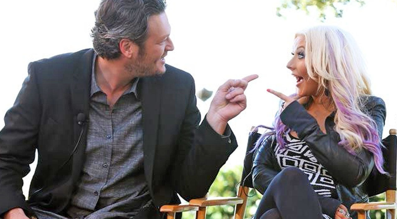 The voice Songs | Blake Shelton Holds Christina Aguilera's Baby Girl, Her Reaction is PRICELESS! (PHOTO) | Country Music Videos