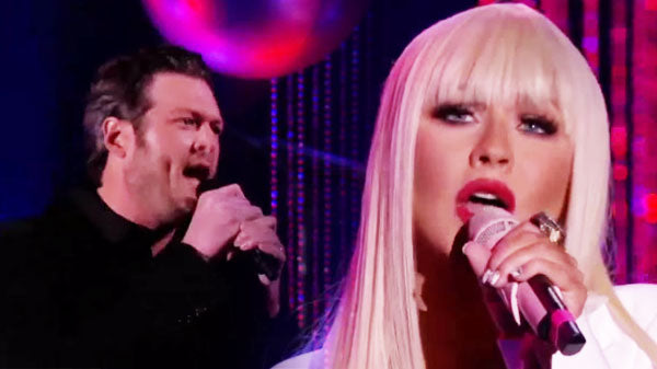 Blake Shelton and Christina Aguilera - DUET - Just A Fool   Country Music Videos