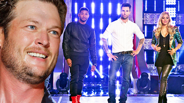 Usher Songs | Blake Shelton & The Voice Cast - Premiere Medley (LIVE) (WATCH) | Country Music Videos
