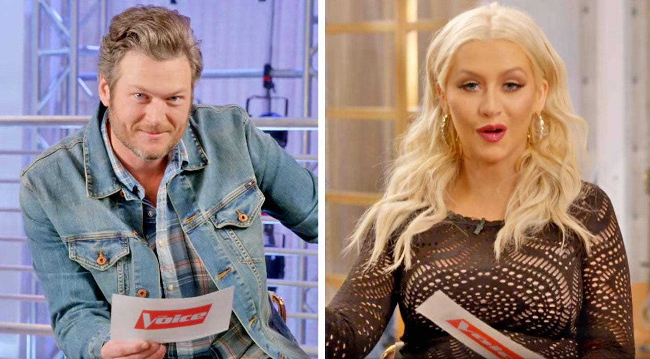 Blake shelton Songs | Christina Aguilera HILARIOUSLY Covers Blake Shelton's 'Hillbilly Bone' In British Accent | Country Music Videos