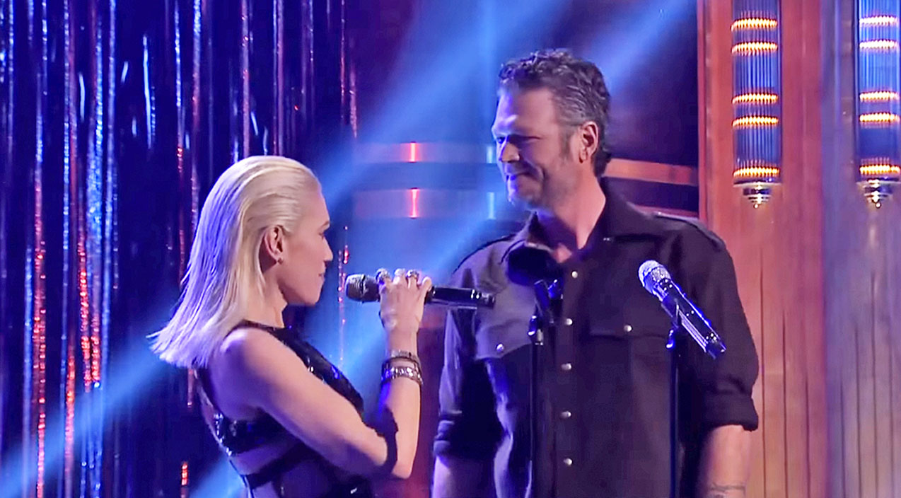 Blake shelton Songs | Gwen Stefani And Blake Shelton Share Unexpected Duet On The Tonight Show | Country Music Videos