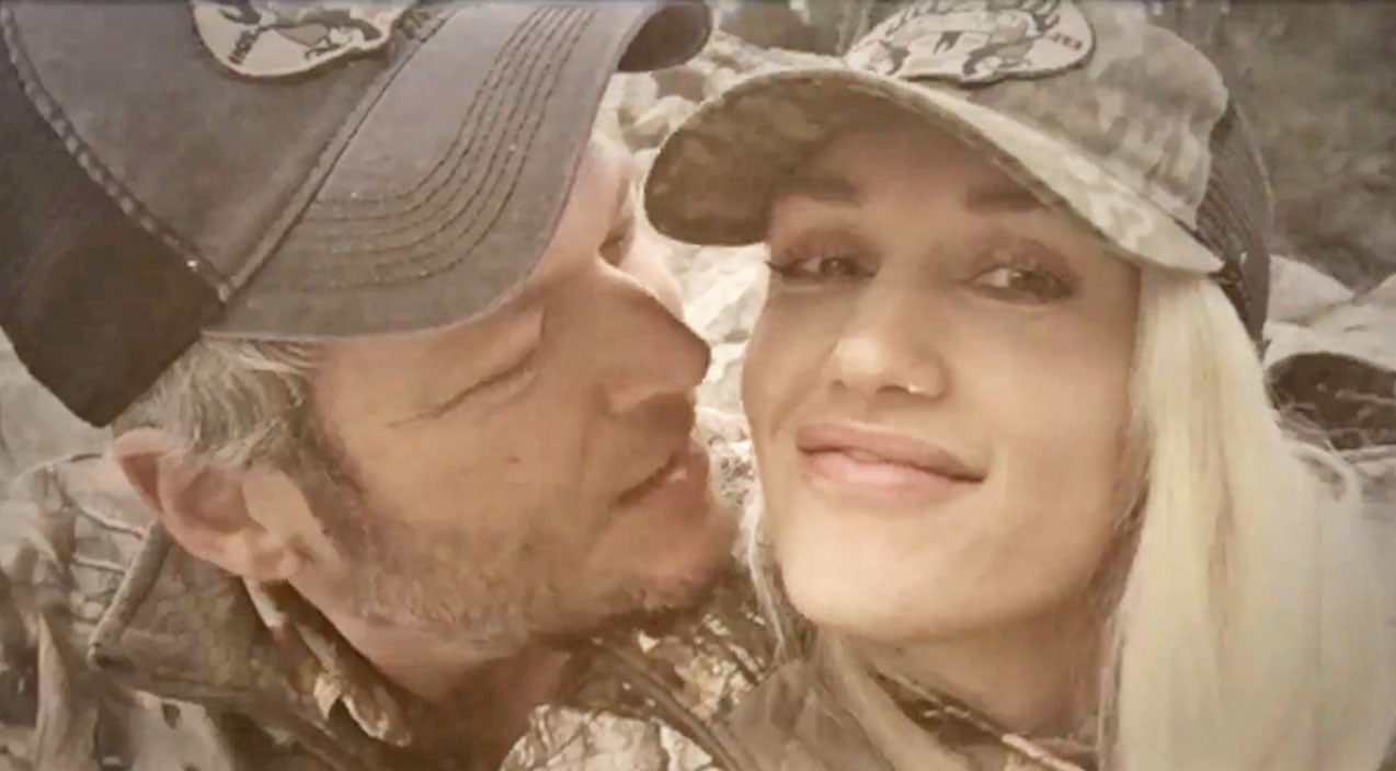 Gwen stefani Songs | Blake Shelton Can't Stop Kissing Gwen Stefani In Adorable Video | Country Music Videos