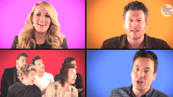 Carrie underwood Songs | Blake Shelton, Carrie Underwood and Music Superstars Sing 'We Are The Champions' with Jimmy Fallon | Country Music Videos