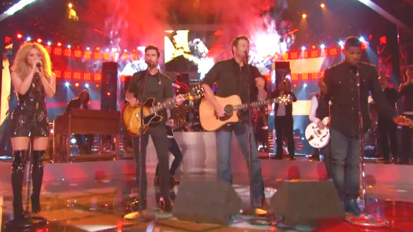 Blake shelton Songs | Blake Shelton, Usher, Shakira and Adam Levine - With A Little Help From My Friends (VIDEO) | Country Music Videos