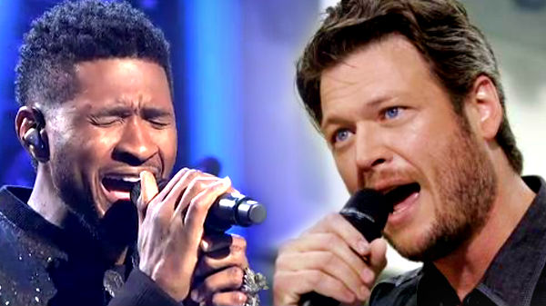 Usher Songs | Blake Shelton and Usher Sing 'With A Little Help From My Friends' at United Way Gala (WATCH) | Country Music Videos