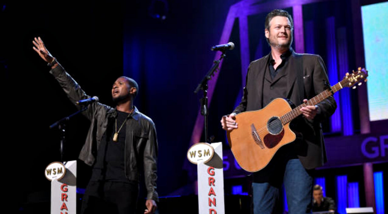 Blake shelton Songs | Blake Shelton Joined By Usher For Moving Performance Of 'Stand By Me' | Country Music Videos
