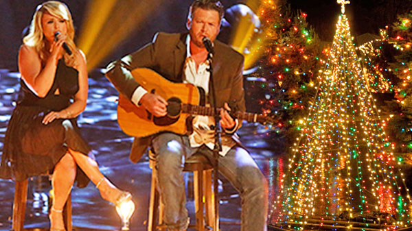 Miranda lambert Songs | Blake Shelton and Miranda Lambert Hold Spontaneous Christmas Concert For Lucky Guests | Country Music Videos