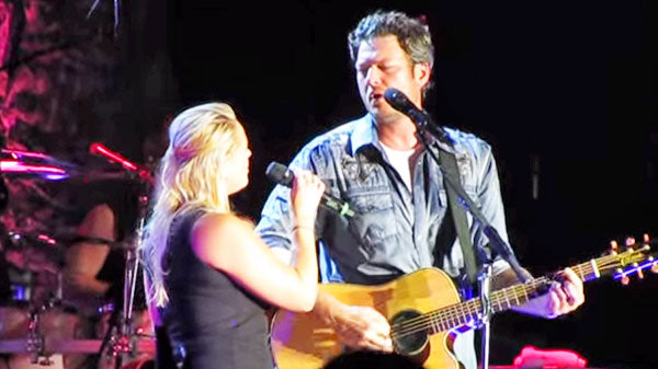 Miranda lambert Songs | Blake Shelton Singing To Miranda Lambert (Romantic!) | Country Music Videos
