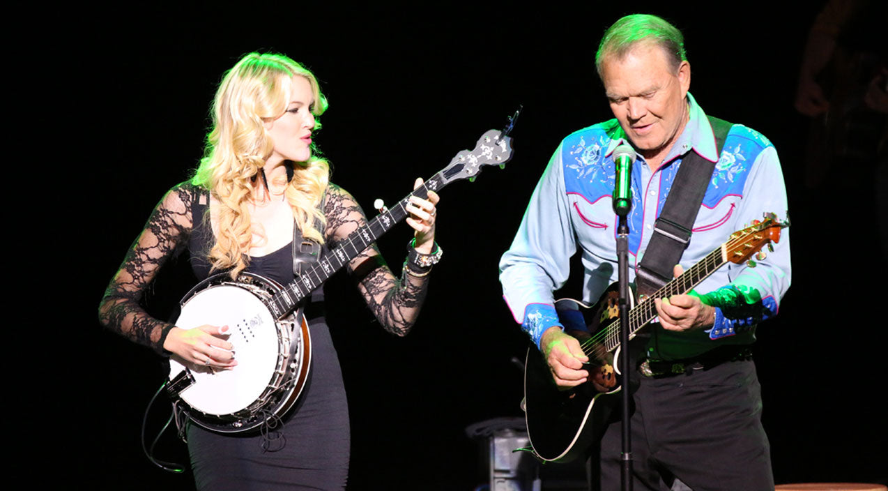 Glen campbell Songs | A Happy Moment: Glen Campbell And His Baby Girl Rock The Stage With Dueling Banjos | Country Music Videos
