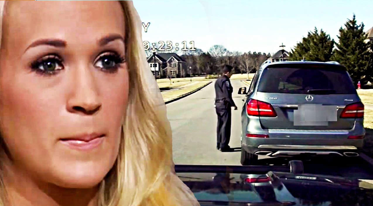 Carrie underwood Songs | Carrie Underwood's Reaction Captured By Police Dash Cam Footage | Country Music Videos