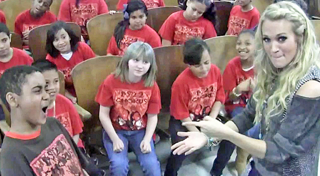 Carrie underwood Songs | Carrie Underwood Inspires Incredible 5th Grade Chorus With 'So Small' | Country Music Videos