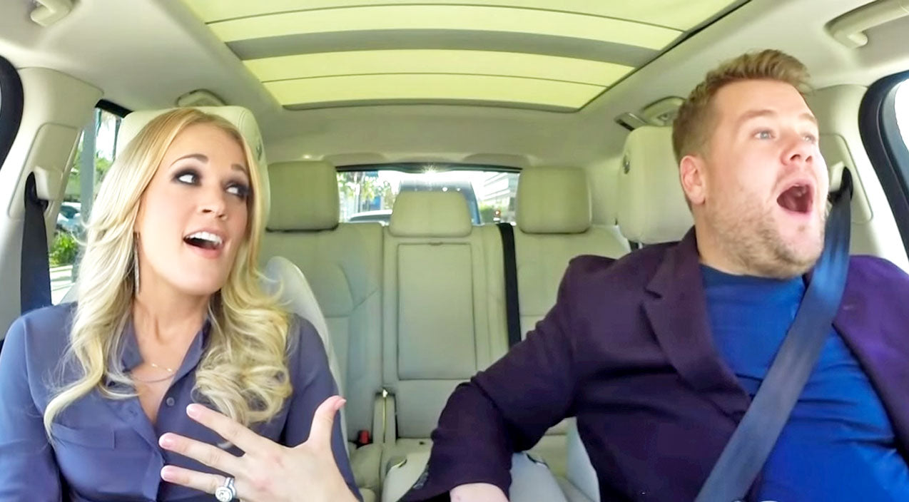 Carrie underwood Songs | Carrie Underwood's Hilarious 'Carpool Karaoke' Is What Dreams Are Made Of | Country Music Videos