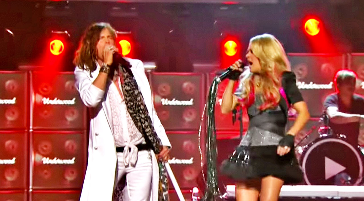 Steven tyler Songs | Carrie Underwood & Steven Tyler Electrify Arena With Face-Melting Duet | Country Music Videos