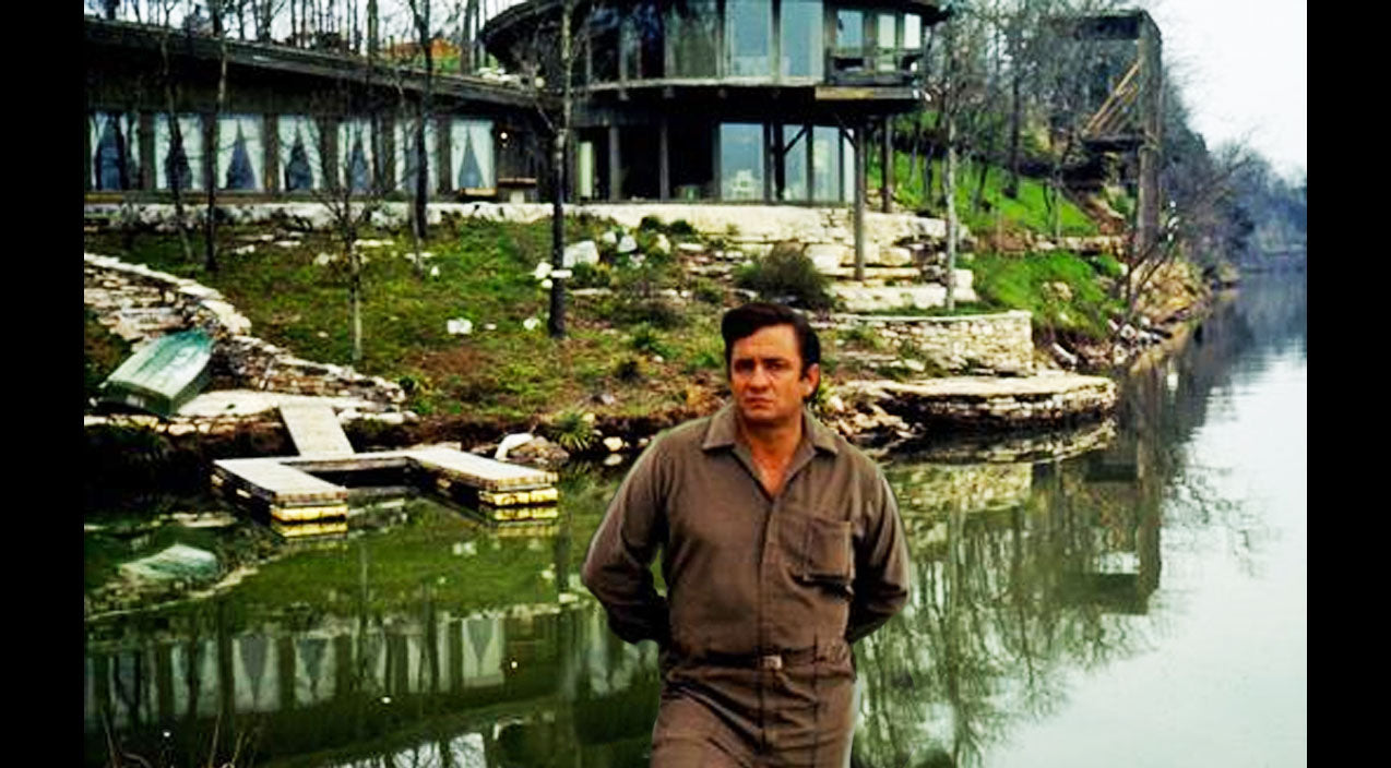 Johnny cash Songs | Charred Remains Of Johnny Cash's Home Now For Sale | Country Music Videos