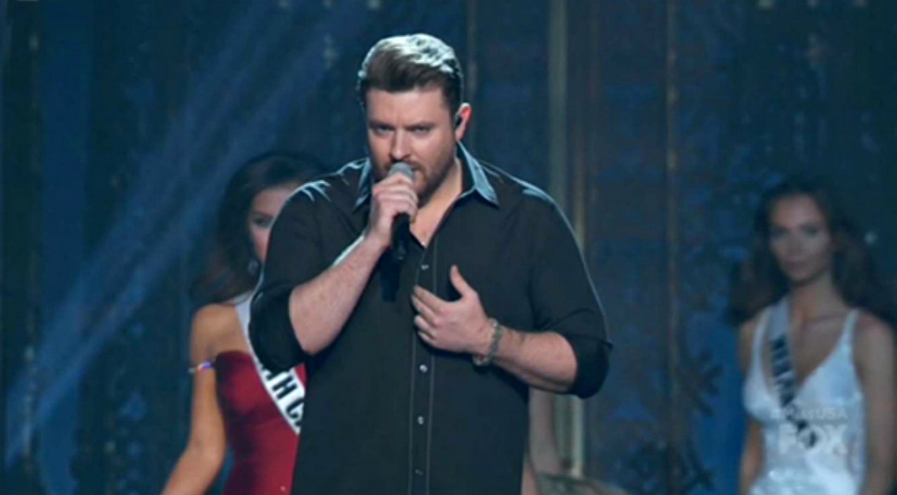 Chris young Songs | Chris Young Delivers Sultry Serenade During Miss USA Pageant | Country Music Videos