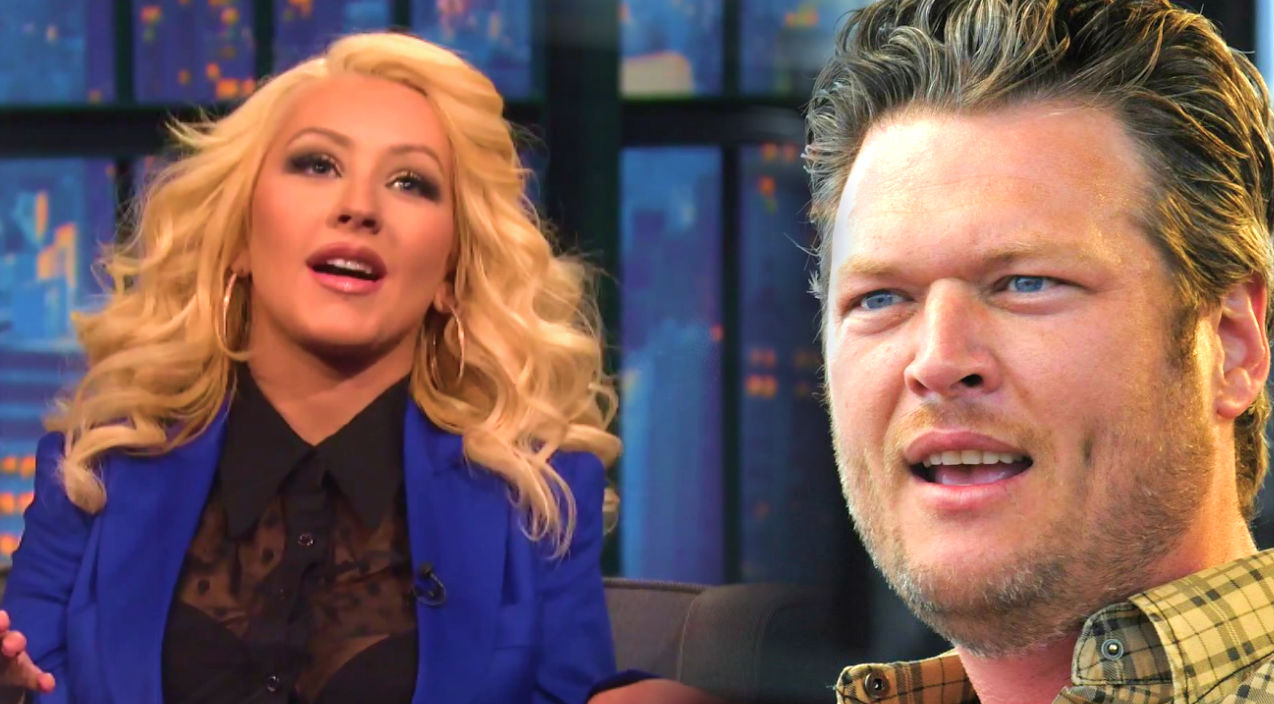 Christina aguilera Songs | Christina Aguilera Explains Why Blake Shelton Keeps Winning The Voice (Late Night with Seth Meyers) (WATCH) | Country Music Videos