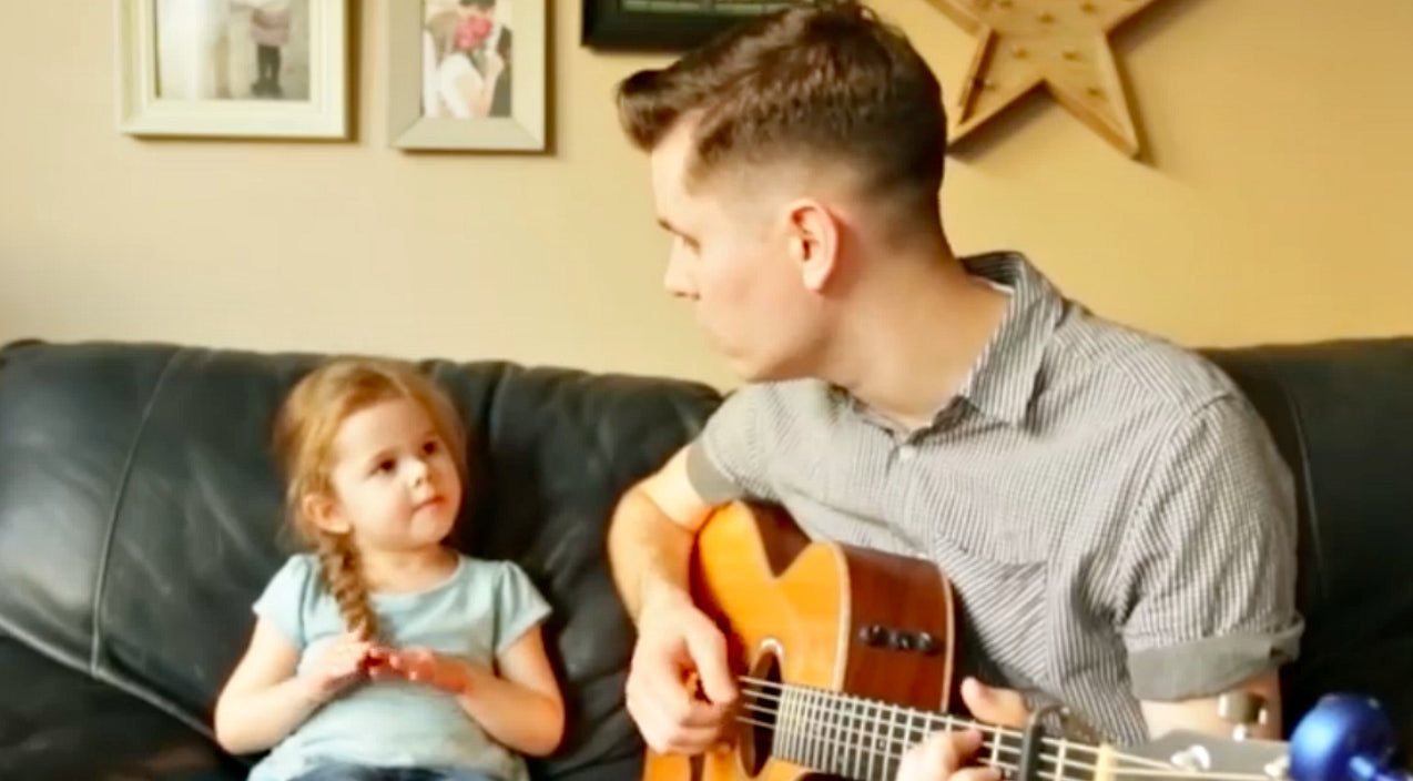 4-Year Old Joins Dad For Tear-Jerking Cover Of