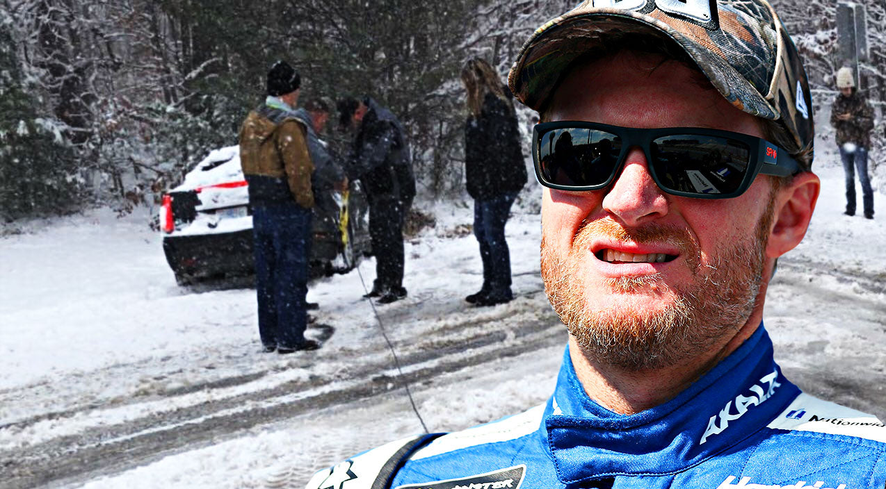 Nascar Songs | Dale Jr. Rescues Police From Winter Storm | Country Music Videos