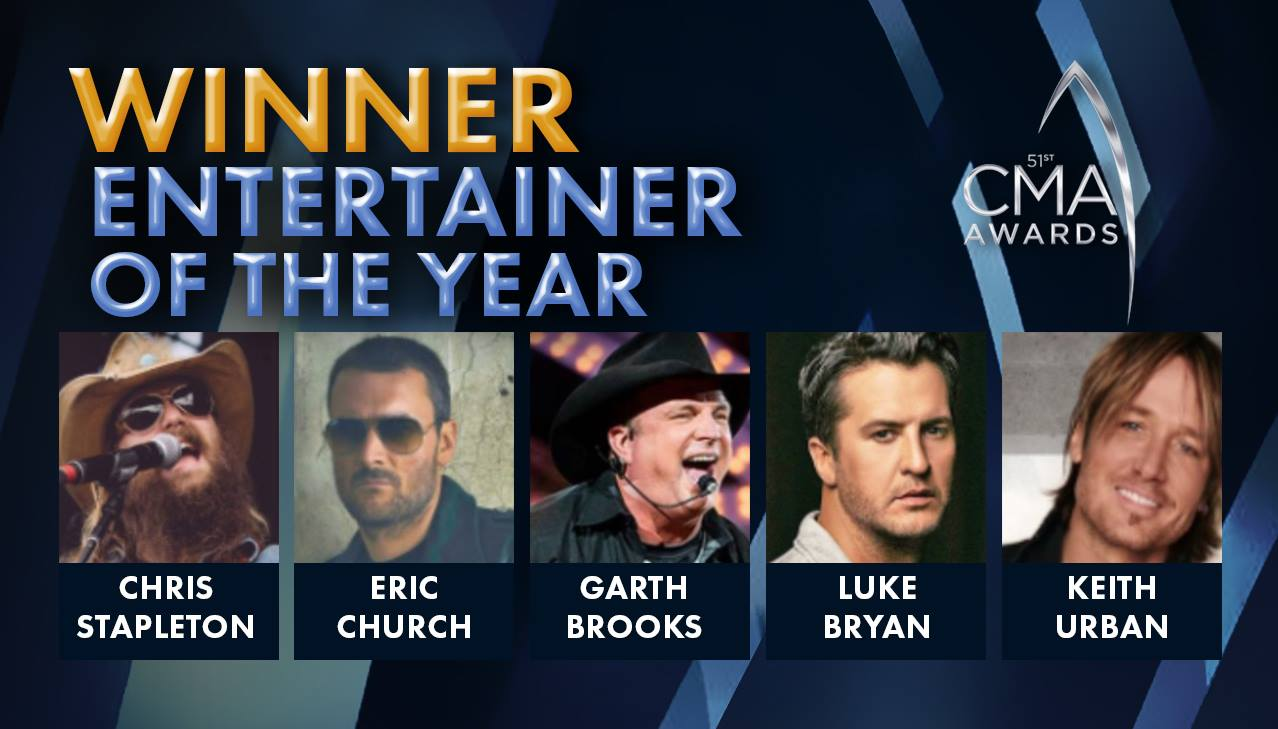 Modern country Songs   2017 CMA Award For Entertainer Of The Year Announced   Country Music Videos