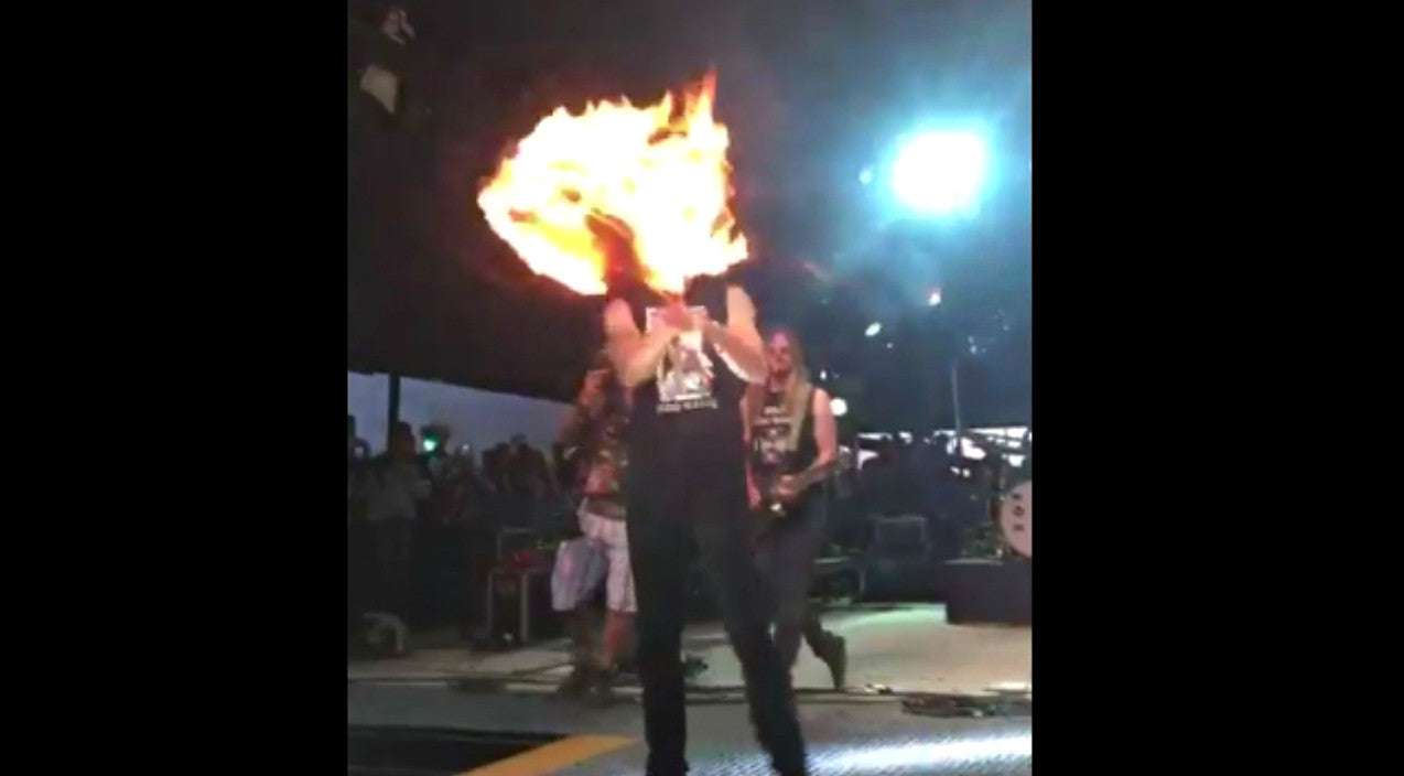 Country Singer Kicked Out Of Music Festival For Fiery Stunt | Country Music Videos