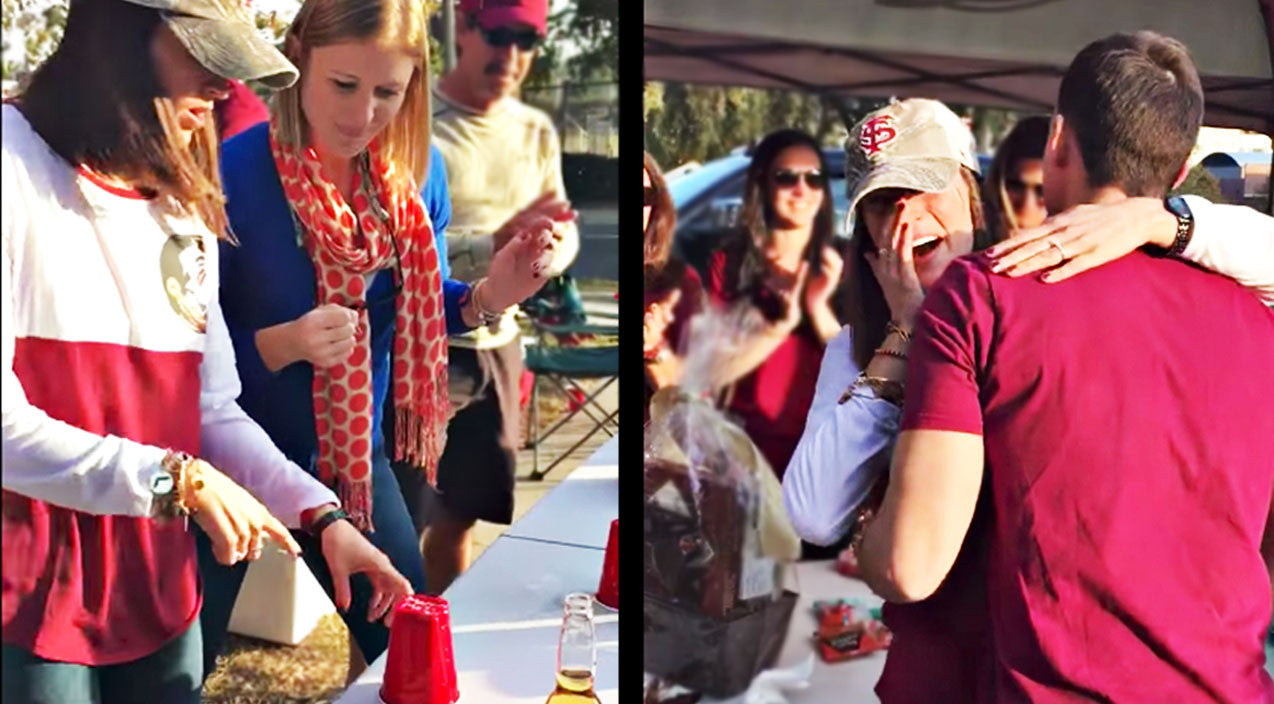 After Leaving Her At The Bar, Man Scores Epic Flip-Cup Proposal | Country Music Videos