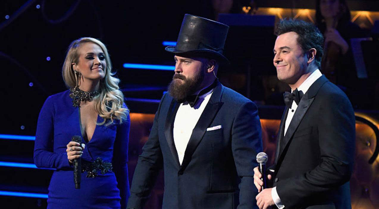 Zac brown Songs | Zac Brown, Carrie Underwood, & Seth McFarlane Perform Medley Of Frank Sinatra Hits | Country Music Videos