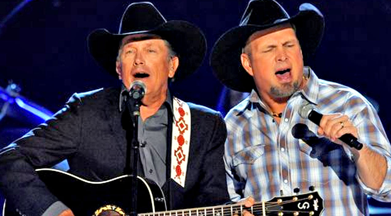 George strait Songs | Garth Brooks & George Strait Team Up For 'Friends In Low Places' | Country Music Videos