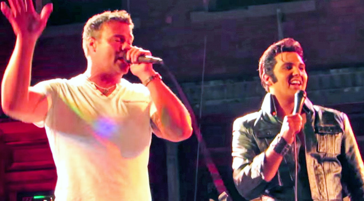 Montgomery gentry Songs | Troy Gentry Joins Elvis Impersonator For Iconic Tribute To The King | Country Music Videos